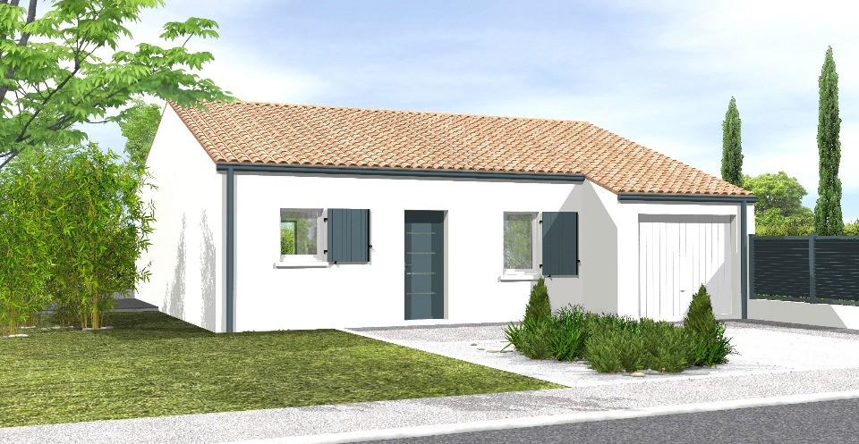 Maisons + Terrains du constructeur LMP CONSTRUCTEUR • 77 m² • TALMONT SAINT HILAIRE