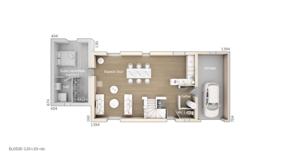 Maisons + Terrains du constructeur MAISONS DE MANON • 120 m² • GRAMBOIS
