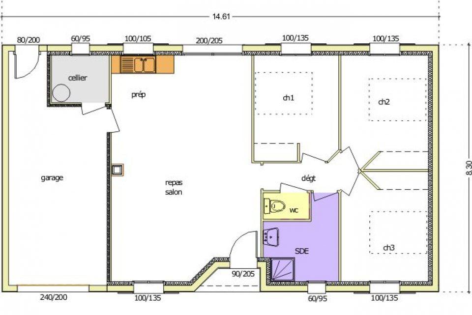 Maisons du constructeur LMP • 75 m² • SAINT LAURENT SUR SEVRE