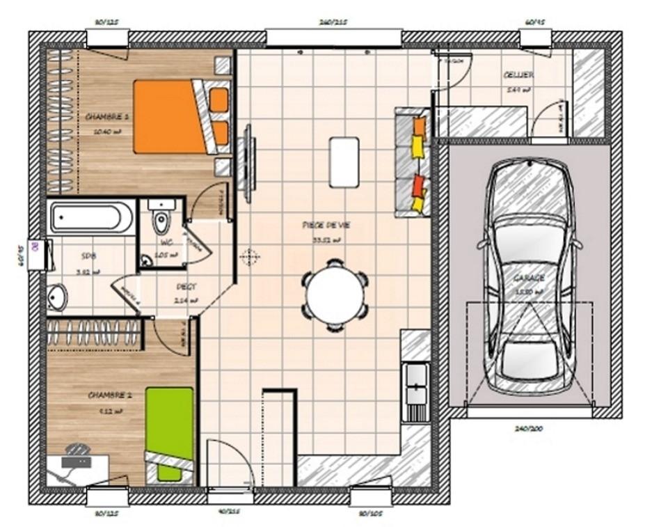 Maisons du constructeur LMP CONSTRUCTEUR • 65 m² • MOUCHAMPS