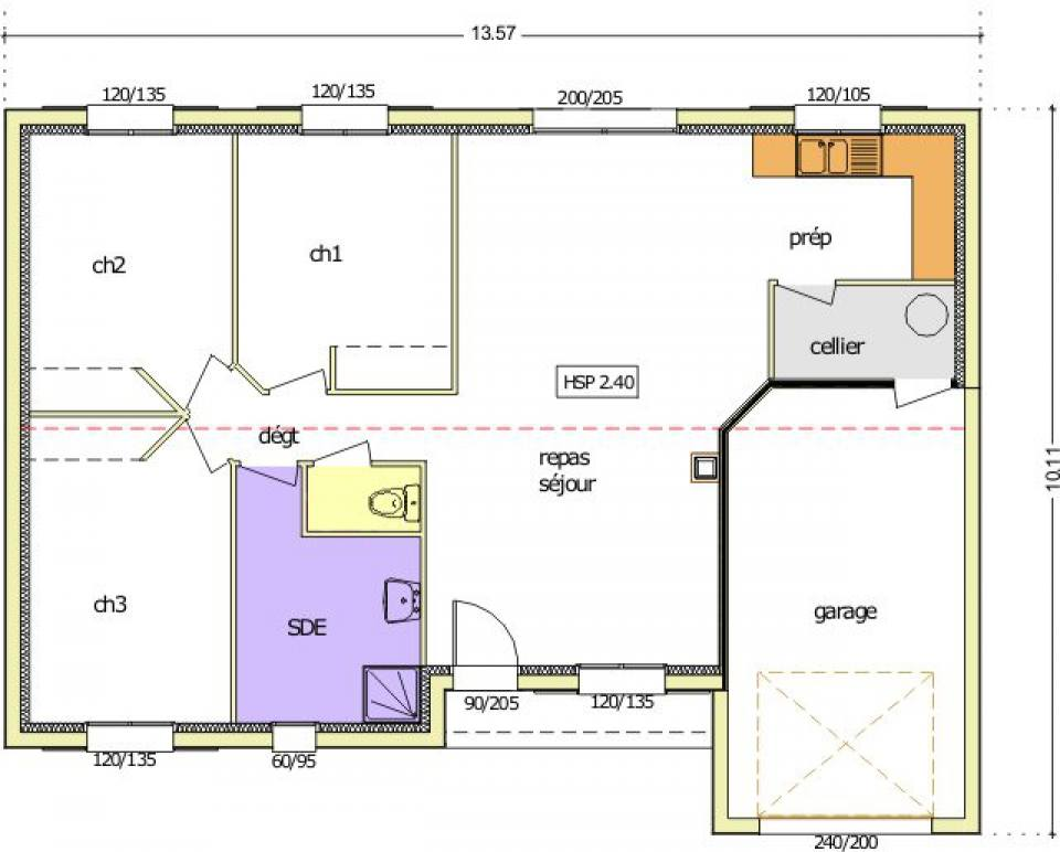 Maisons du constructeur LMP • 84 m² • MONSIREIGNE