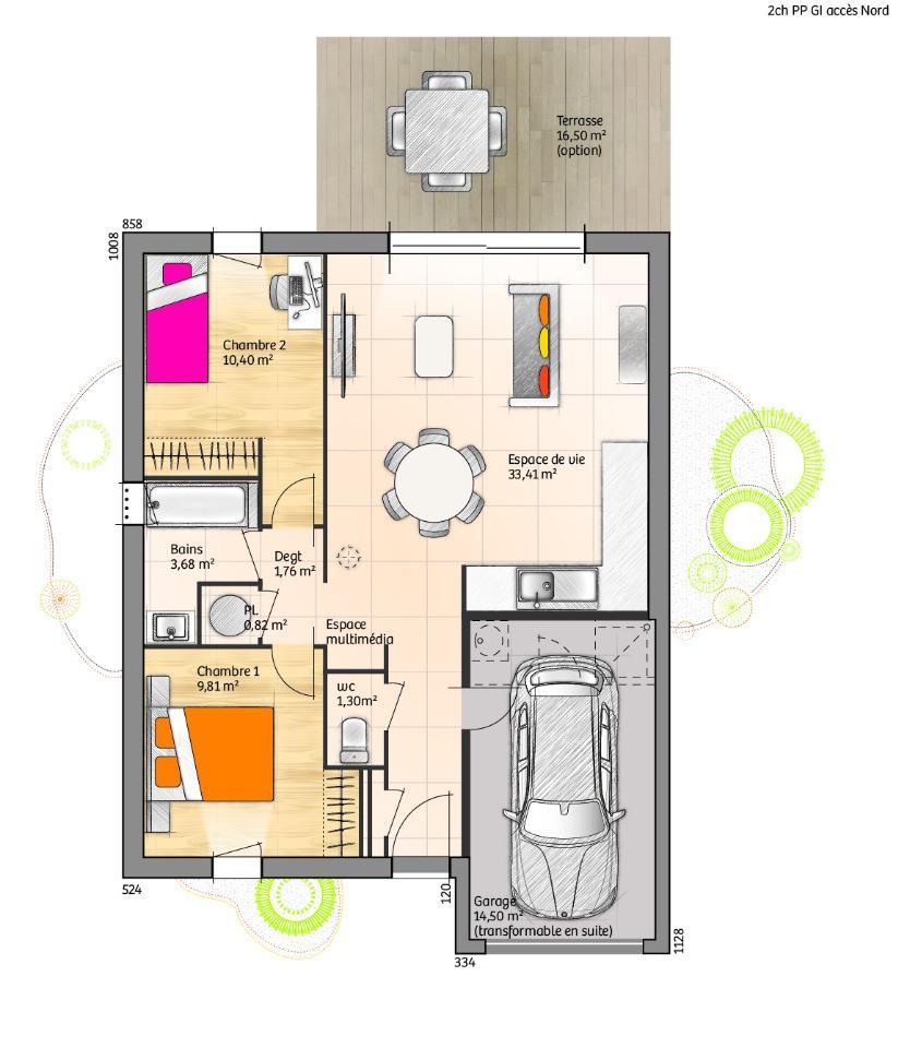 Maisons + Terrains du constructeur LMP CONSTRUCTEUR • 60 m² • TREIZE SEPTIERS