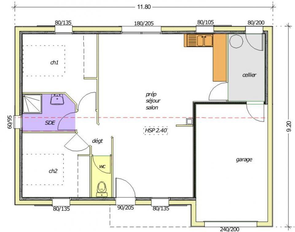 Maisons + Terrains du constructeur LMP CONSTRUCTEUR • 58 m² • LE BOUPERE