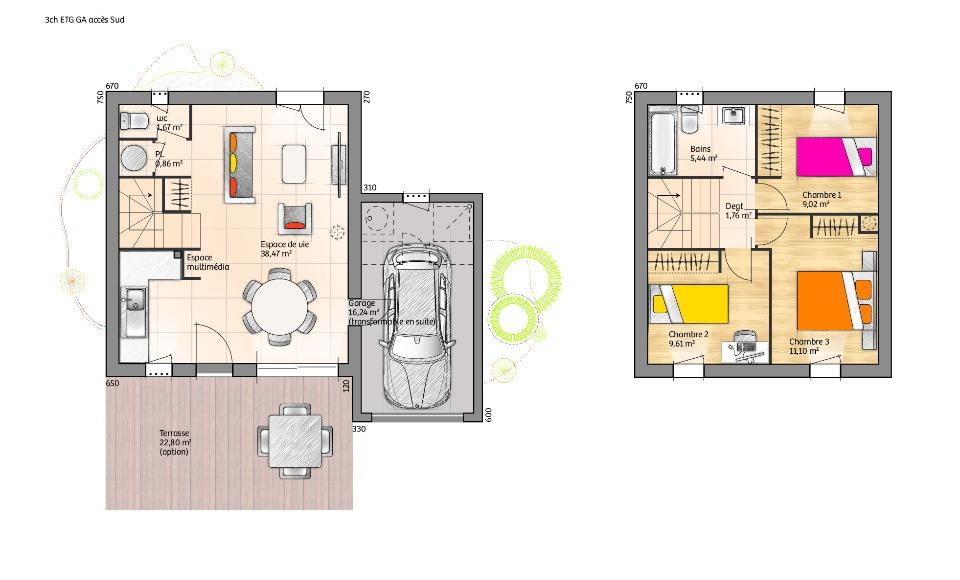 Maisons + Terrains du constructeur LMP • 78 m² • LES CHATELLIERS CHATEAUMUR