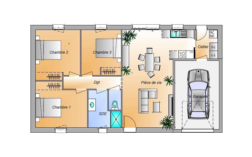 Maisons + Terrains du constructeur LMP • 82 m² • LES LANDES GENUSSON