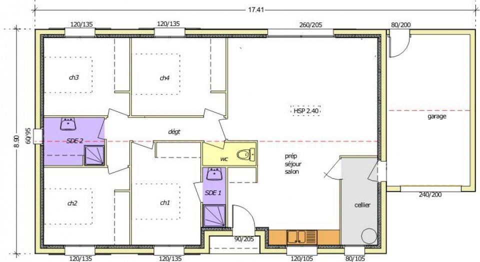 Maisons + Terrains du constructeur LMP • 103 m² • LA CAILLERE SAINT HILAIRE