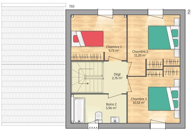 Maisons + Terrains du constructeur MAISONS BALENCY • 81 m² • SAINT SOUPPLETS