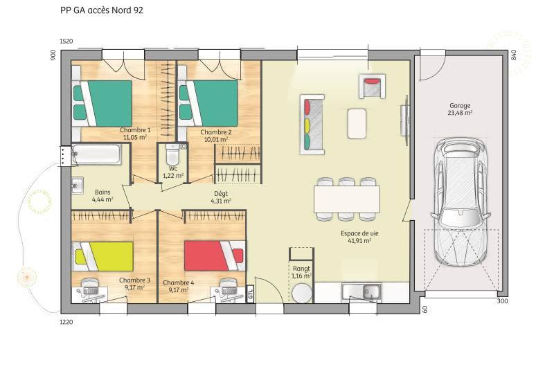 Maisons + Terrains du constructeur MAISONS BALENCY • 92 m² • TOUQUIN