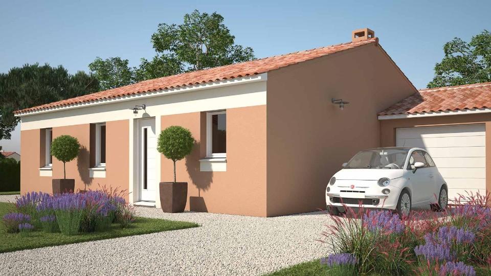 Maisons + Terrains du constructeur MAISONS FRANCE CONFORT • 74 m² • ROCBARON