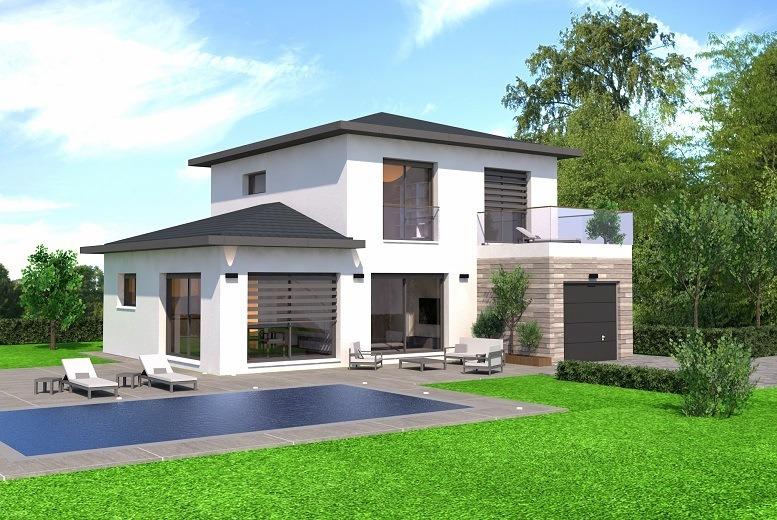 Maisons + Terrains du constructeur DEMEURES CALADOISES • 131 m² • CHARVONNEX