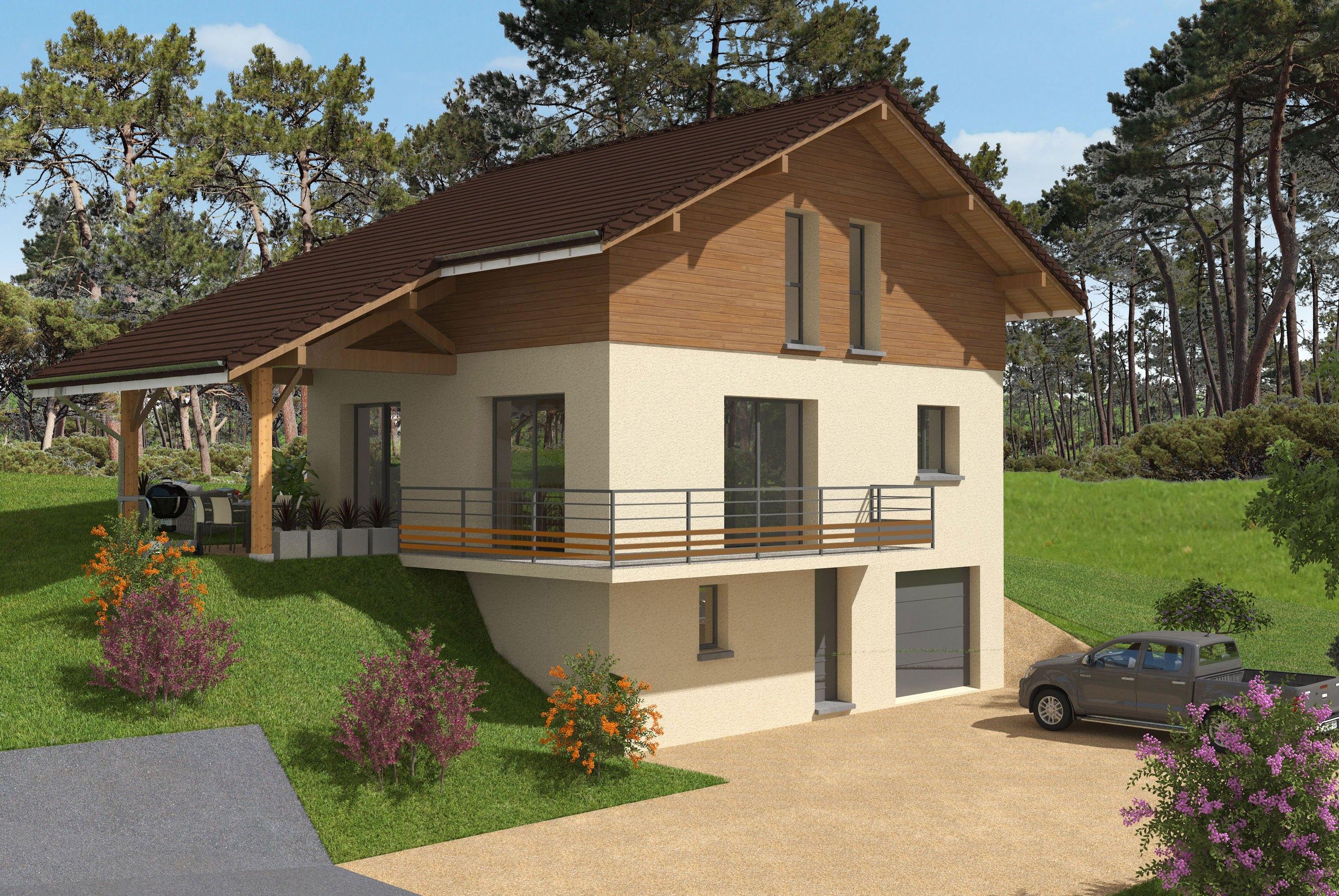 Maisons + Terrains du constructeur DEMEURES CALADOISES • 112 m² • SAINT JEOIRE