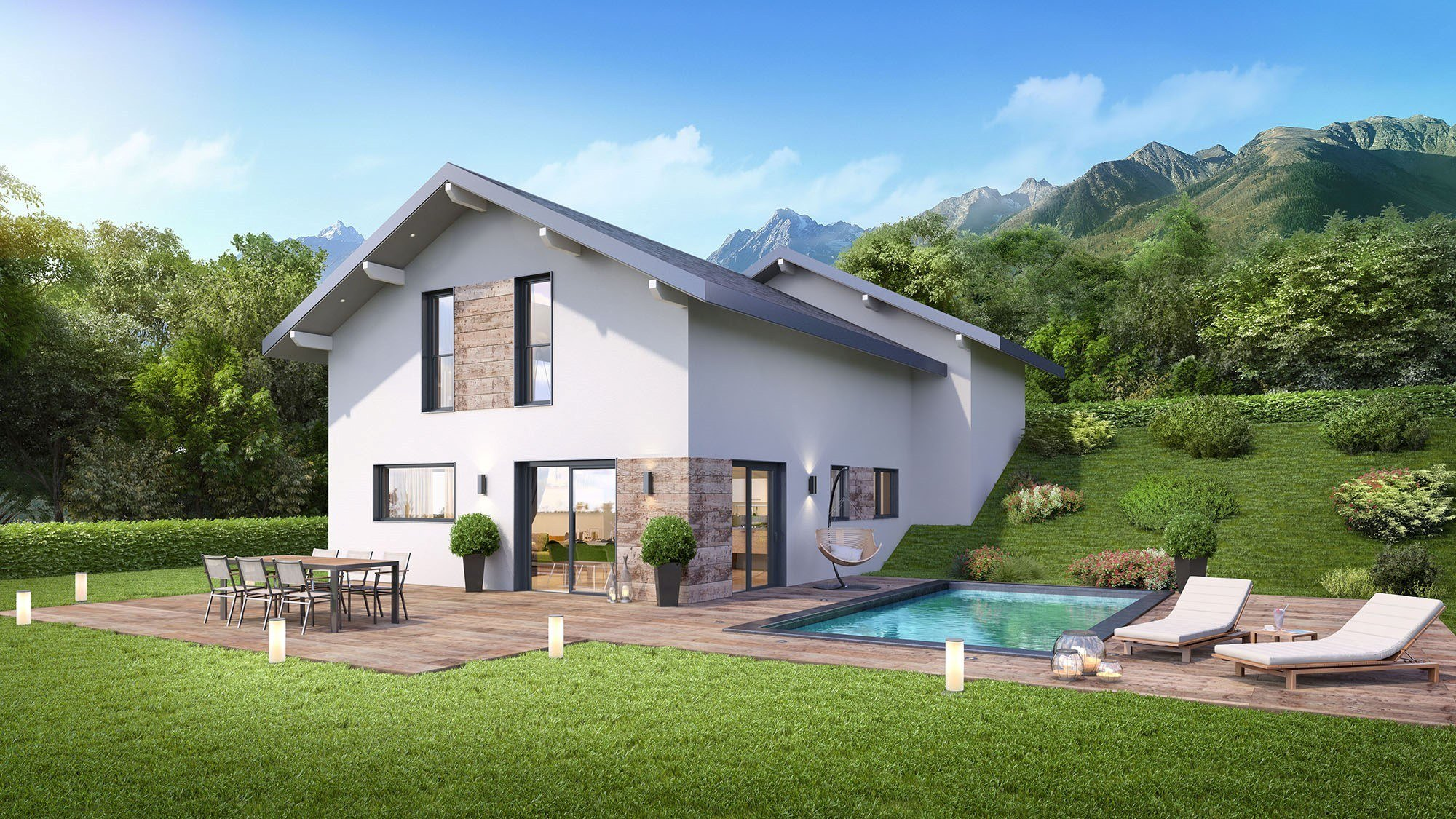Maisons + Terrains du constructeur DEMEURES CALADOISES AGENCE D ANNECY • 119 m² • THONES