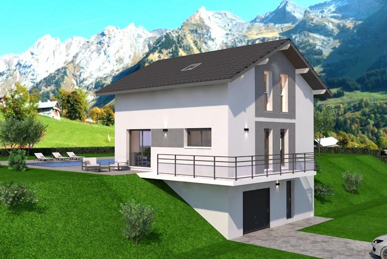 Maisons + Terrains du constructeur DEMEURES CALADOISES AGENCE D ANNECY • 95 m² • FILLINGES