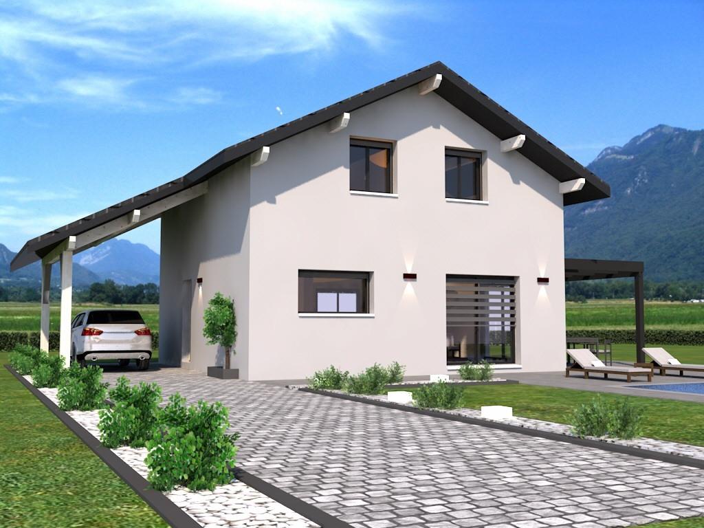 Maisons + Terrains du constructeur DEMEURES CALADOISES AGENCE D ANNECY • 107 m² • YVOIRE