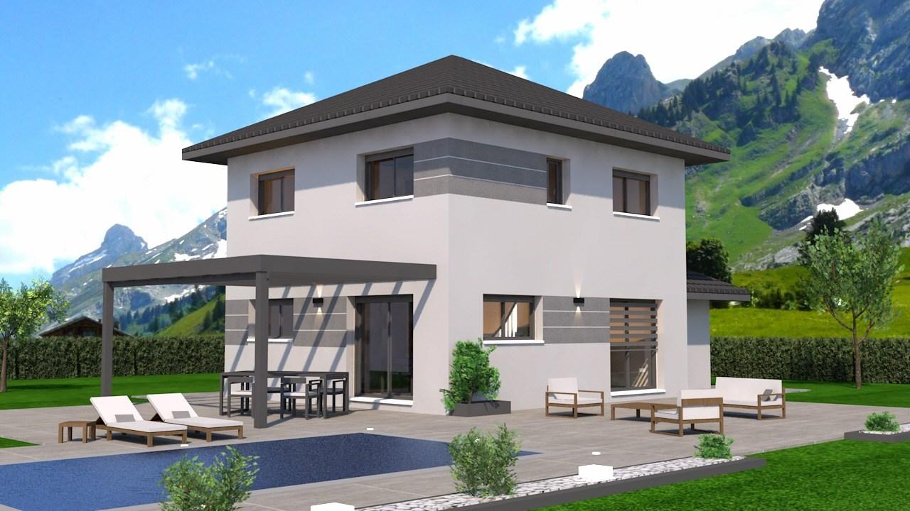 Maisons + Terrains du constructeur DEMEURES CALADOISES AGENCE D ANNECY • 92 m² • BELLEVAUX