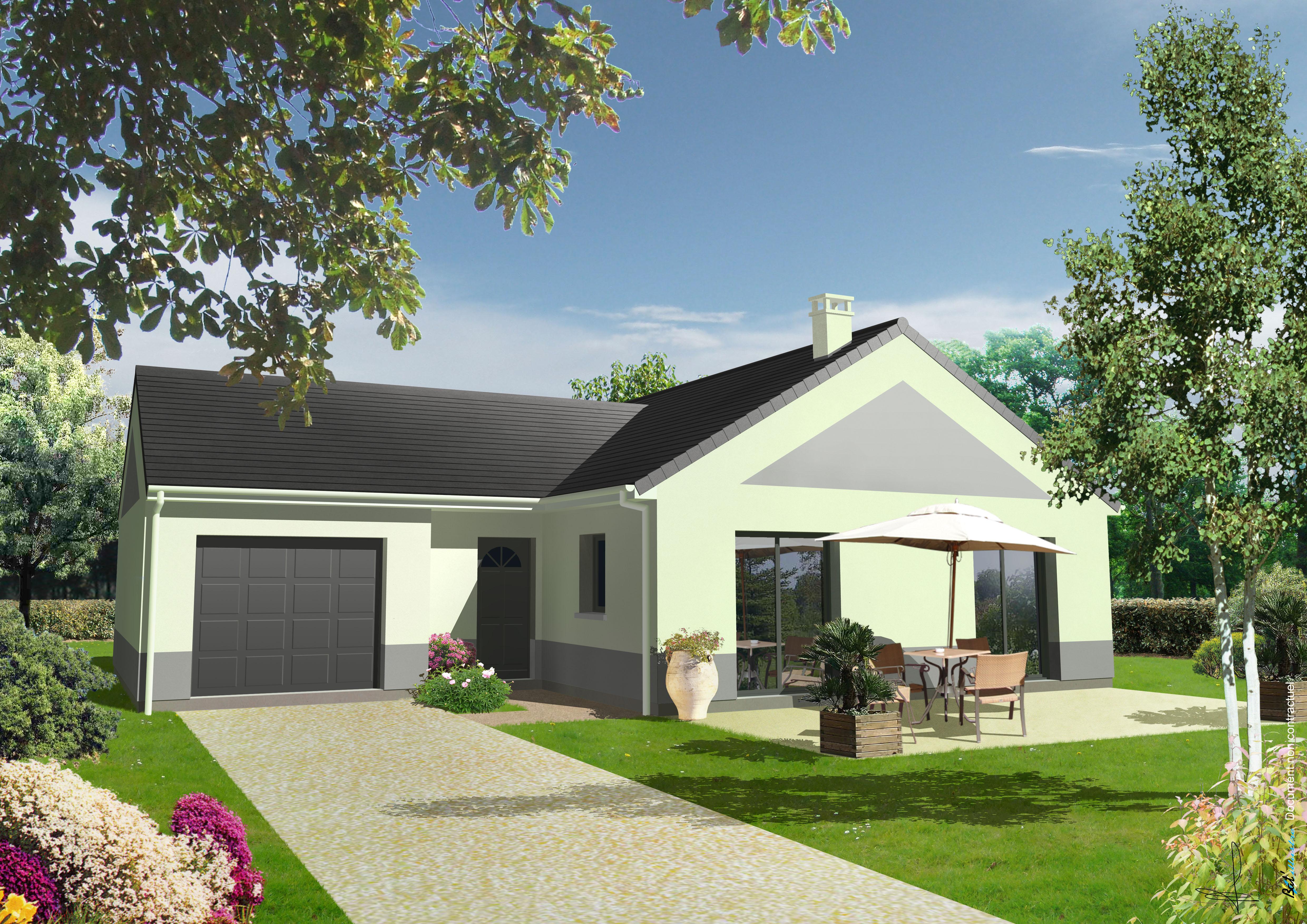 Maisons + Terrains du constructeur LETELLIER • 91 m² • MANTES LA JOLIE