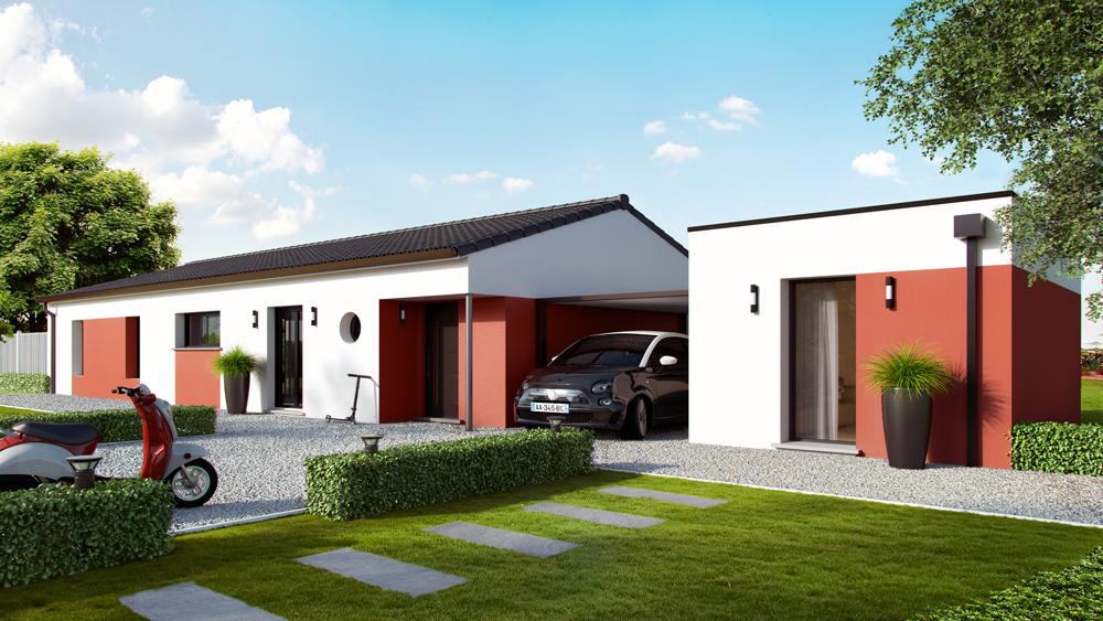Maisons + Terrains du constructeur ALPHA CONSTRUCTIONS - PERIGUEUX • 100 m² • SAINT LAURENT DES VIGNES
