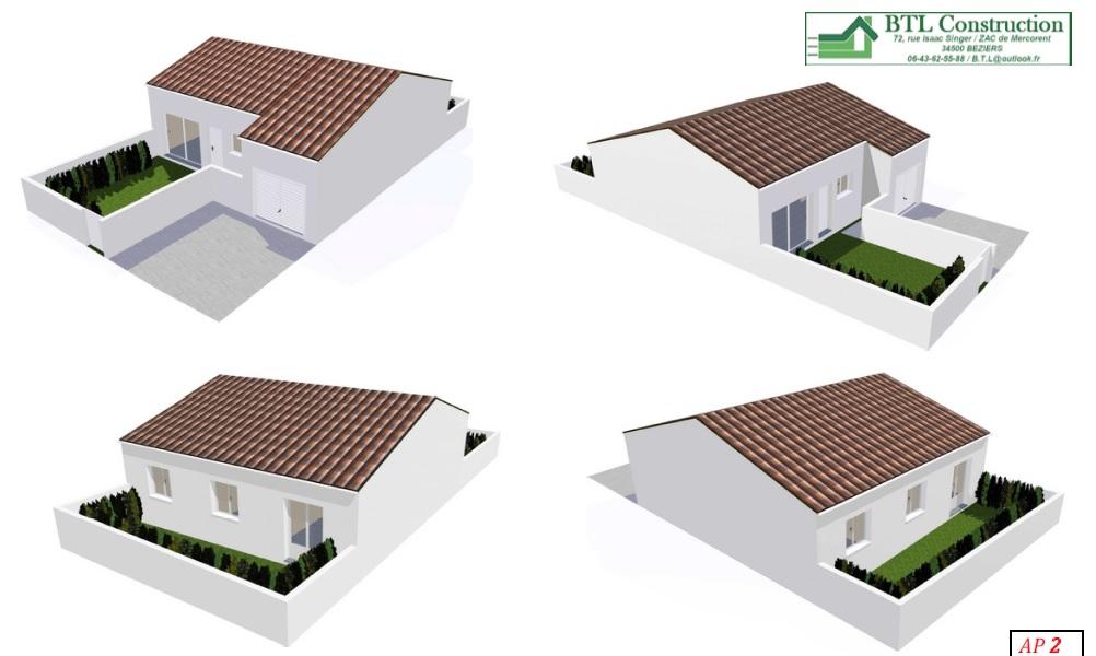 Maisons du constructeur BTL • 80 m² • PLAISSAN