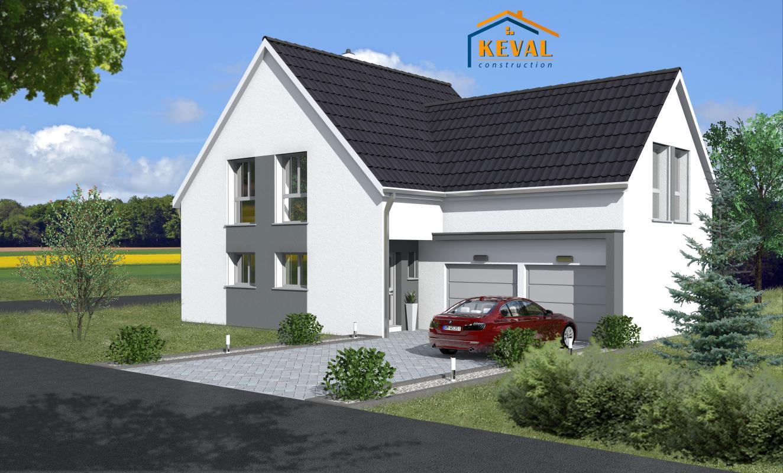 Maisons + Terrains du constructeur KEVAL CONSTRUCTION • 130 m² • KUTTOLSHEIM