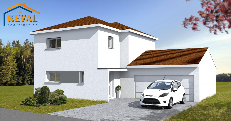 Maisons + Terrains du constructeur KEVAL CONSTRUCTION • 80 m² • SARRE UNION