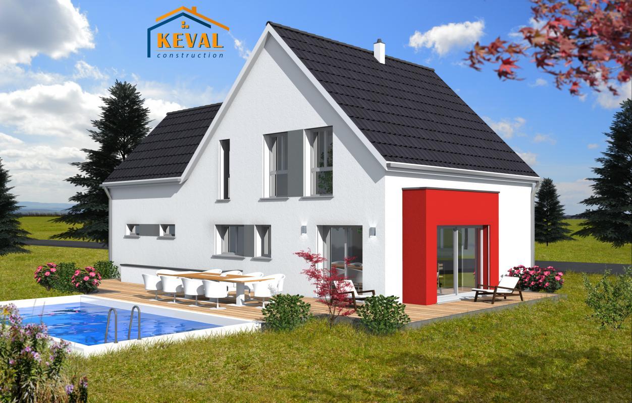 Maisons + Terrains du constructeur KEVAL CONSTRUCTION • 130 m² • HANGENBIETEN