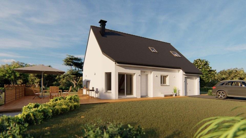 Maisons + Terrains du constructeur EXTRACO CREATION • 105 m² • HONGUEMARE GUENOUVILLE