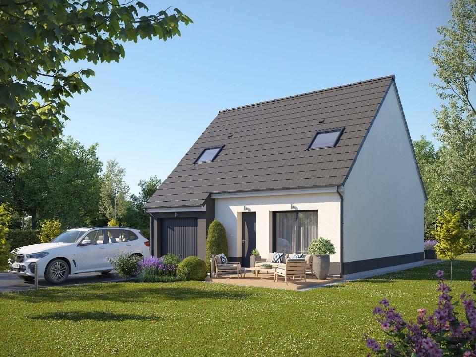 Maisons + Terrains du constructeur MAISONS EXTRACO - Agence des ANDELYS • 81 m² • HACQUEVILLE