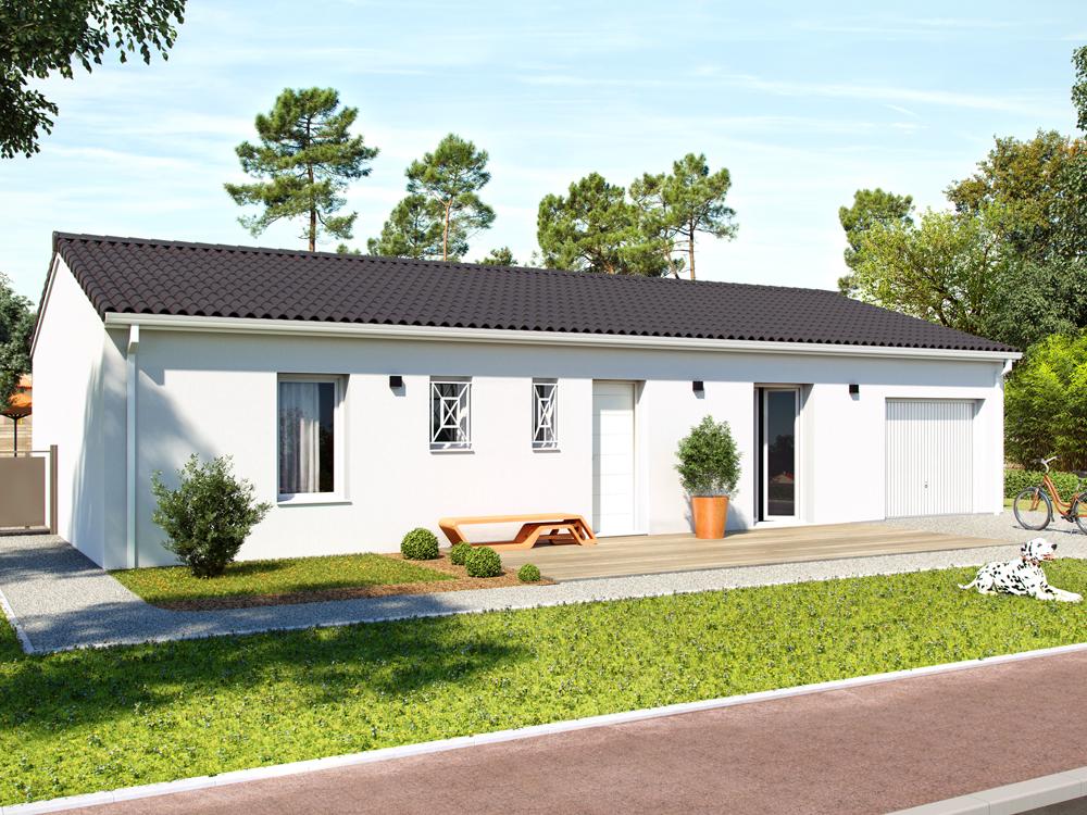 Maisons + Terrains du constructeur ALPHA CONSTRUCTIONS BLAYE • 100 m² • PUGNAC