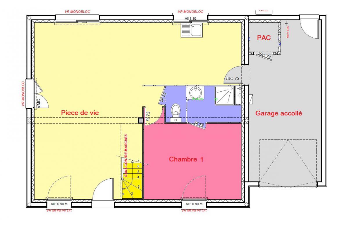 Maisons + Terrains du constructeur MAISONS AXCESS • 100 m² • LESSAY