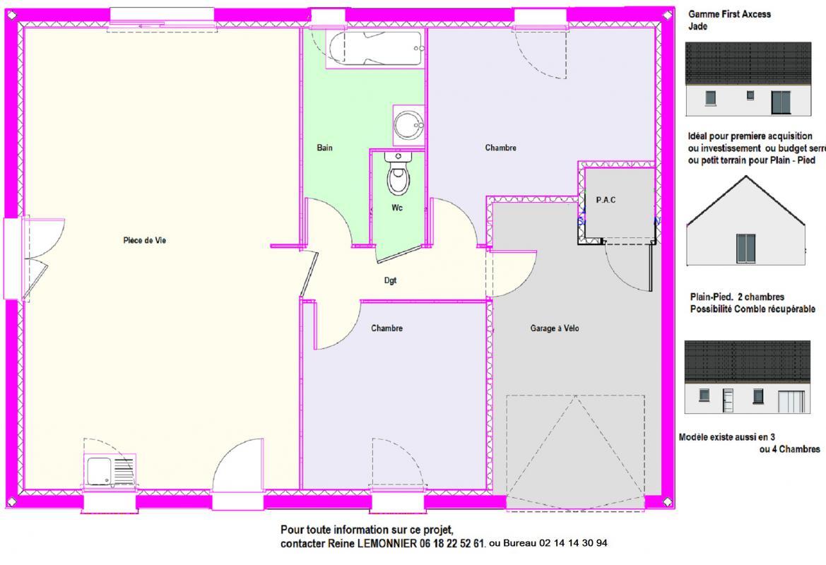 Maisons + Terrains du constructeur MAISONS AXCESS • 70 m² • ANGOVILLE SUR AY