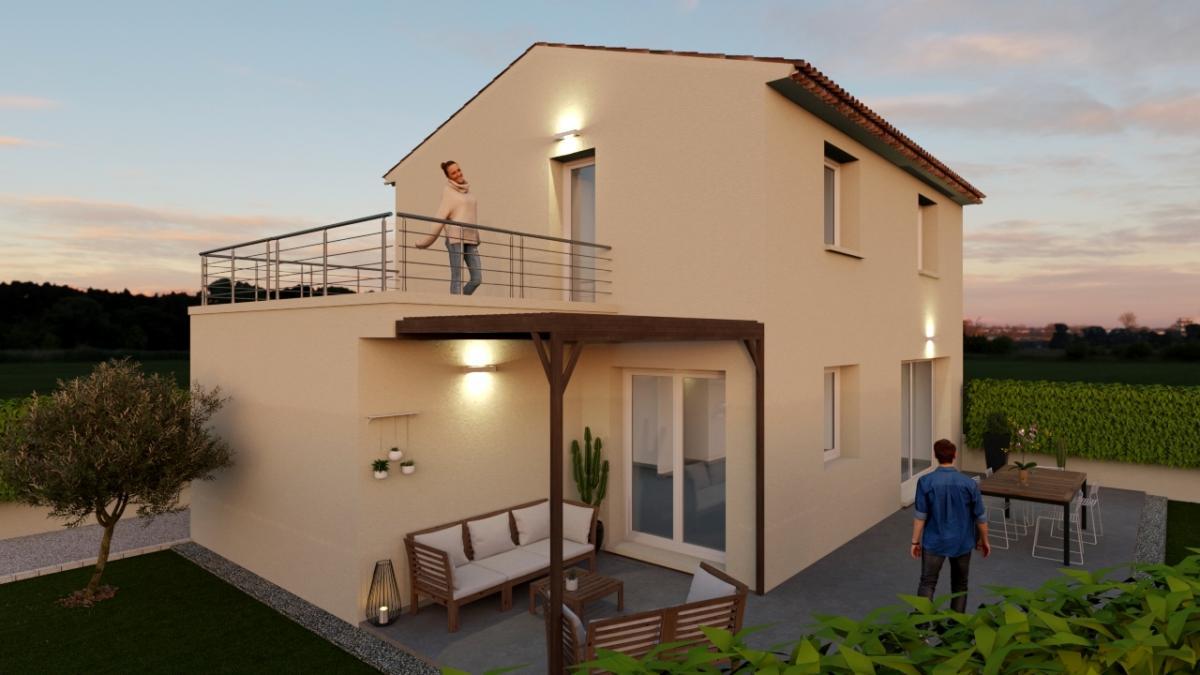 Maisons du constructeur ESQUISS 13 • 80 m² • LE VAL