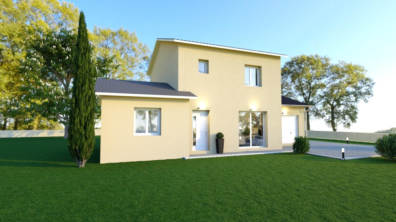 Maisons + Terrains du constructeur MAISONS FLORIOT • 105 m² • PERREX