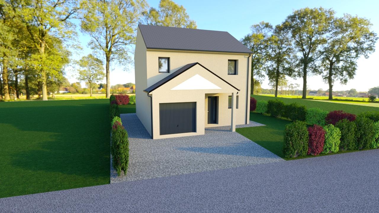 Maisons + Terrains du constructeur TRADIBAT NORMANDIE • 85 m² • BELLENGREVILLE