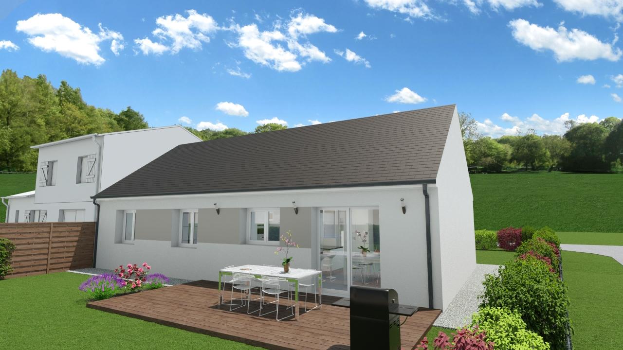 Maisons + Terrains du constructeur TRADIBAT NORMANDIE • 88 m² • ARGENCES
