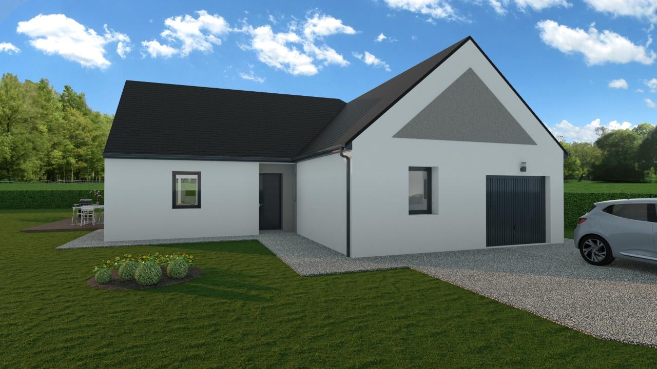 Maisons + Terrains du constructeur TRADIBAT NORMANDIE • 93 m² • EVRECY