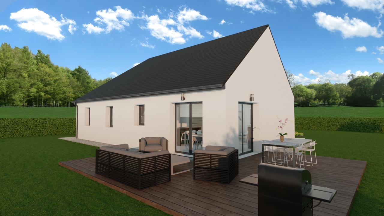 Maisons + Terrains du constructeur TRADIBAT NORMANDIE • 93 m² • COLLEVILLE SUR MER