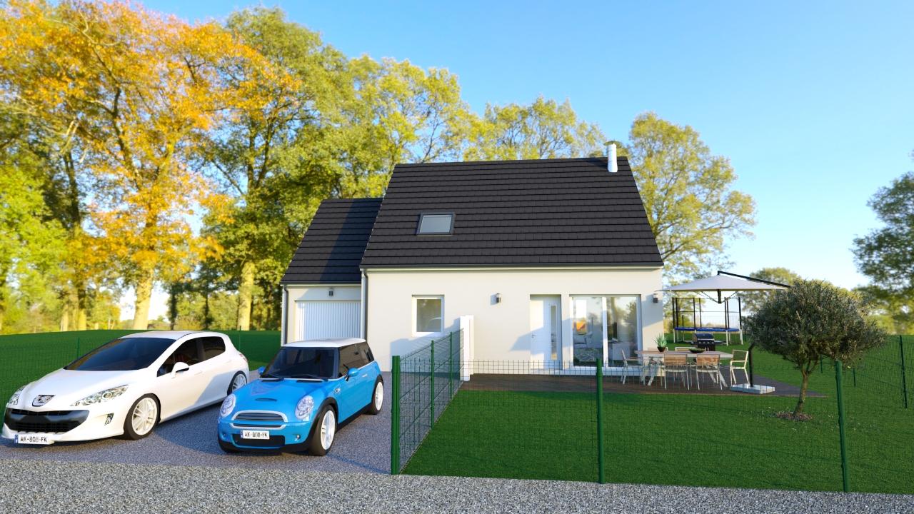 Maisons + Terrains du constructeur TRADIBAT NORMANDIE • 94 m² • URVILLE