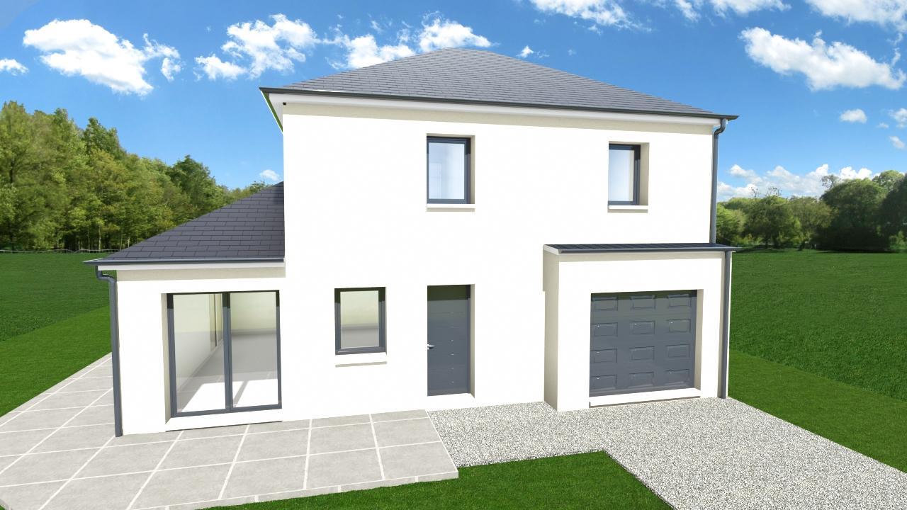 Maisons + Terrains du constructeur TRADIBAT NORMANDIE • 96 m² • BARON SUR ODON