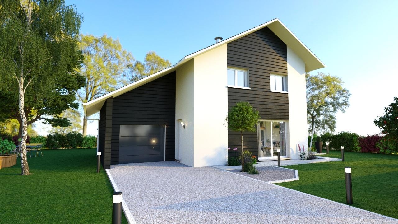 Maisons + Terrains du constructeur MAISONS LOGELIS • 95 m² • JONAGE