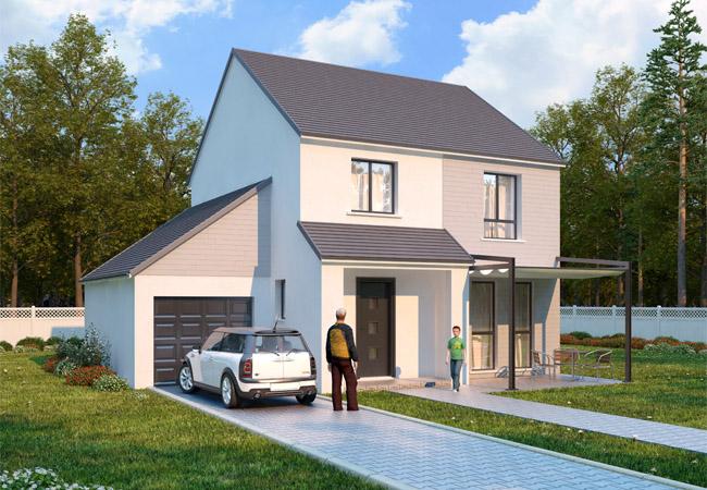 Maisons + Terrains du constructeur LES ARTISANS REUNIS • 98 m² • ISSOU