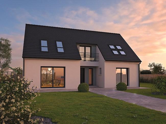 Maisons du constructeur LES ARTISANS REUNIS • 105 m² • VILLIERS LE MORHIER