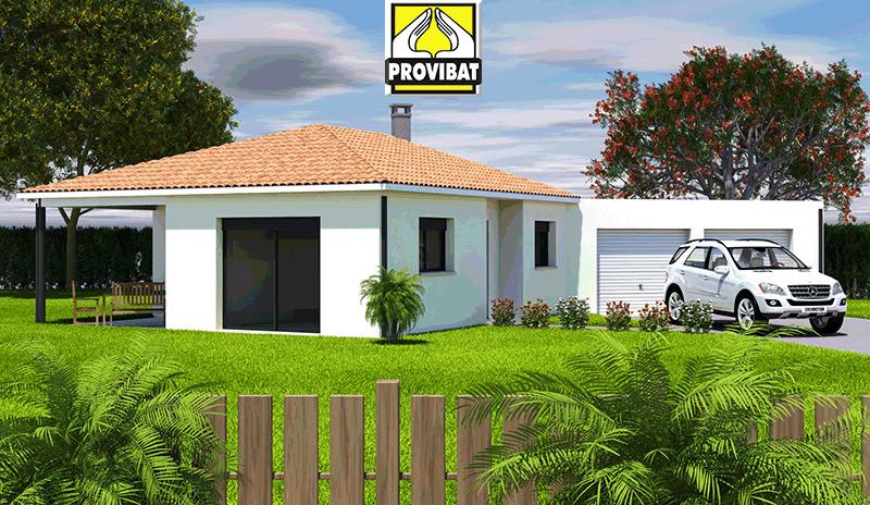 Maisons + Terrains du constructeur PROVIBAT • 80 m² • GIGEAN