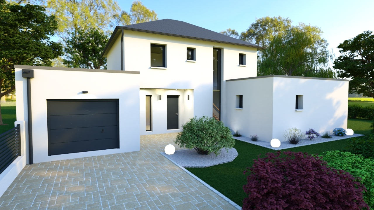 Maisons + Terrains du constructeur Mon Courtier Maison • 135 m² • SUCE SUR ERDRE