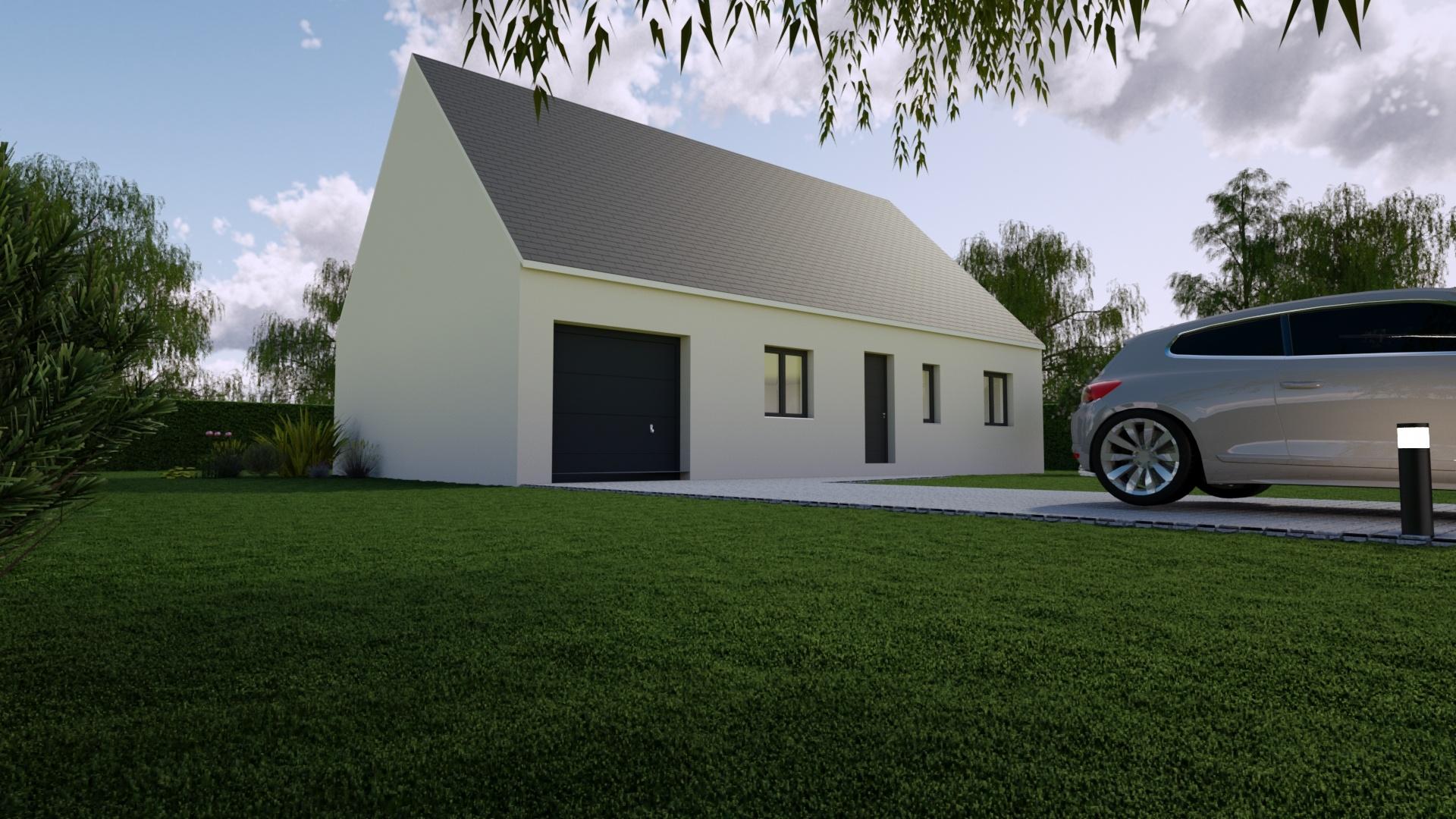 Maisons + Terrains du constructeur Mon Courtier Maison • 90 m² • NOZAY