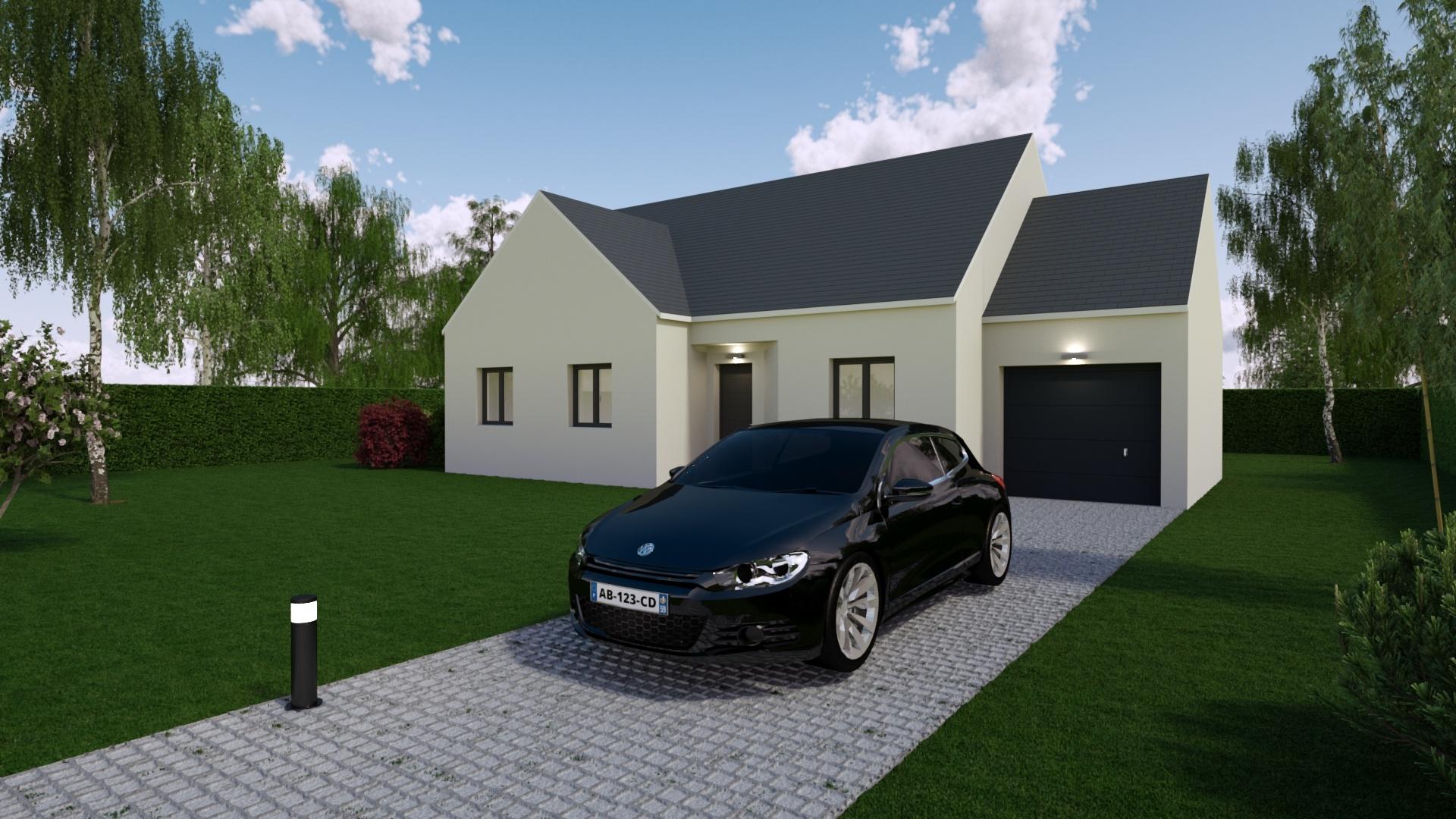 Maisons + Terrains du constructeur Mon Courtier Maison • 86 m² • MOISDON LA RIVIERE