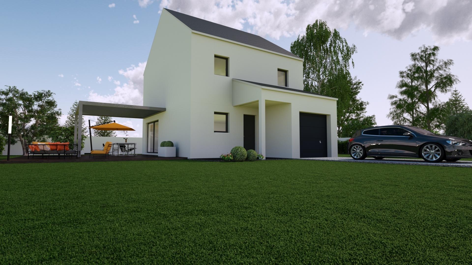 Maisons + Terrains du constructeur Mon Courtier Maison • 94 m² • LES TOUCHES