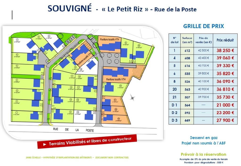 Terrains du constructeur VAL TOURAINE HABITAT • 616 m² • SOUVIGNE