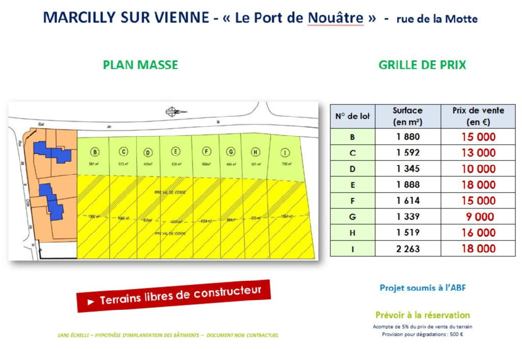 Terrains du constructeur VAL TOURAINE HABITAT • 1592 m² • MARCILLY SUR VIENNE
