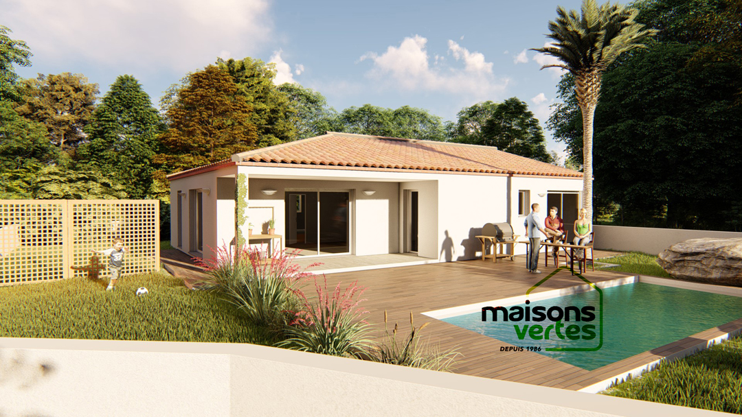 Maisons + Terrains du constructeur MAISONS VERTES • 92 m² • NARBONNE