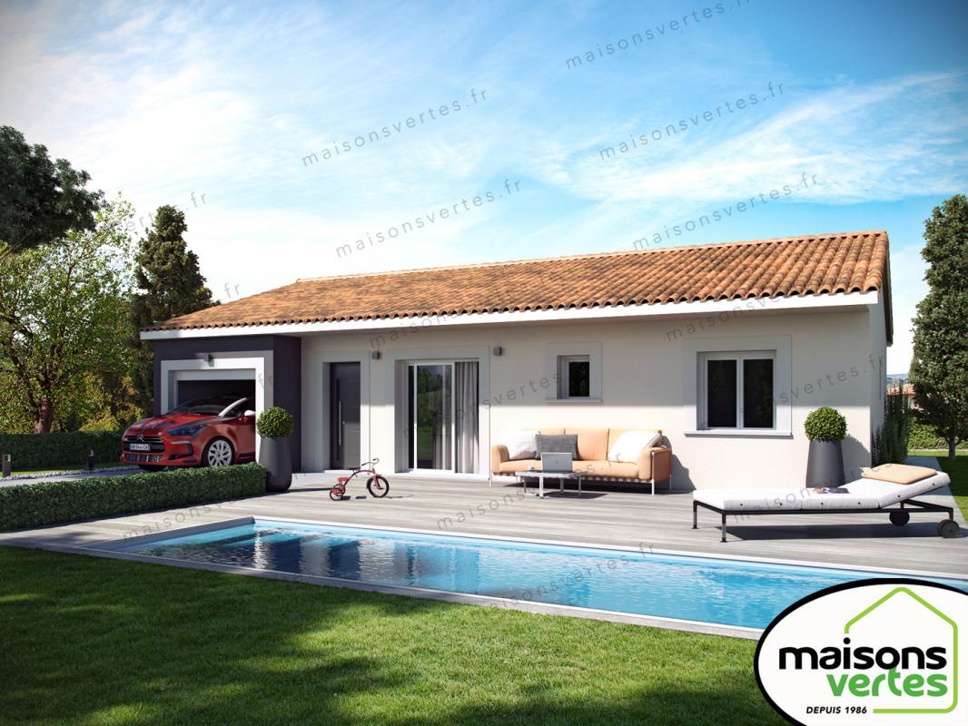 Maisons + Terrains du constructeur MAISONS VERTES • 82 m² • PEPIEUX